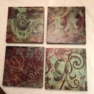 Other - Set / 4 canvas wrapped prints. Wall decor